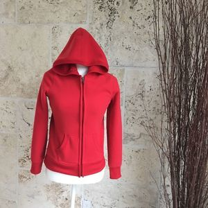 Old Navy Red Zip-Up Hoodie, size Small